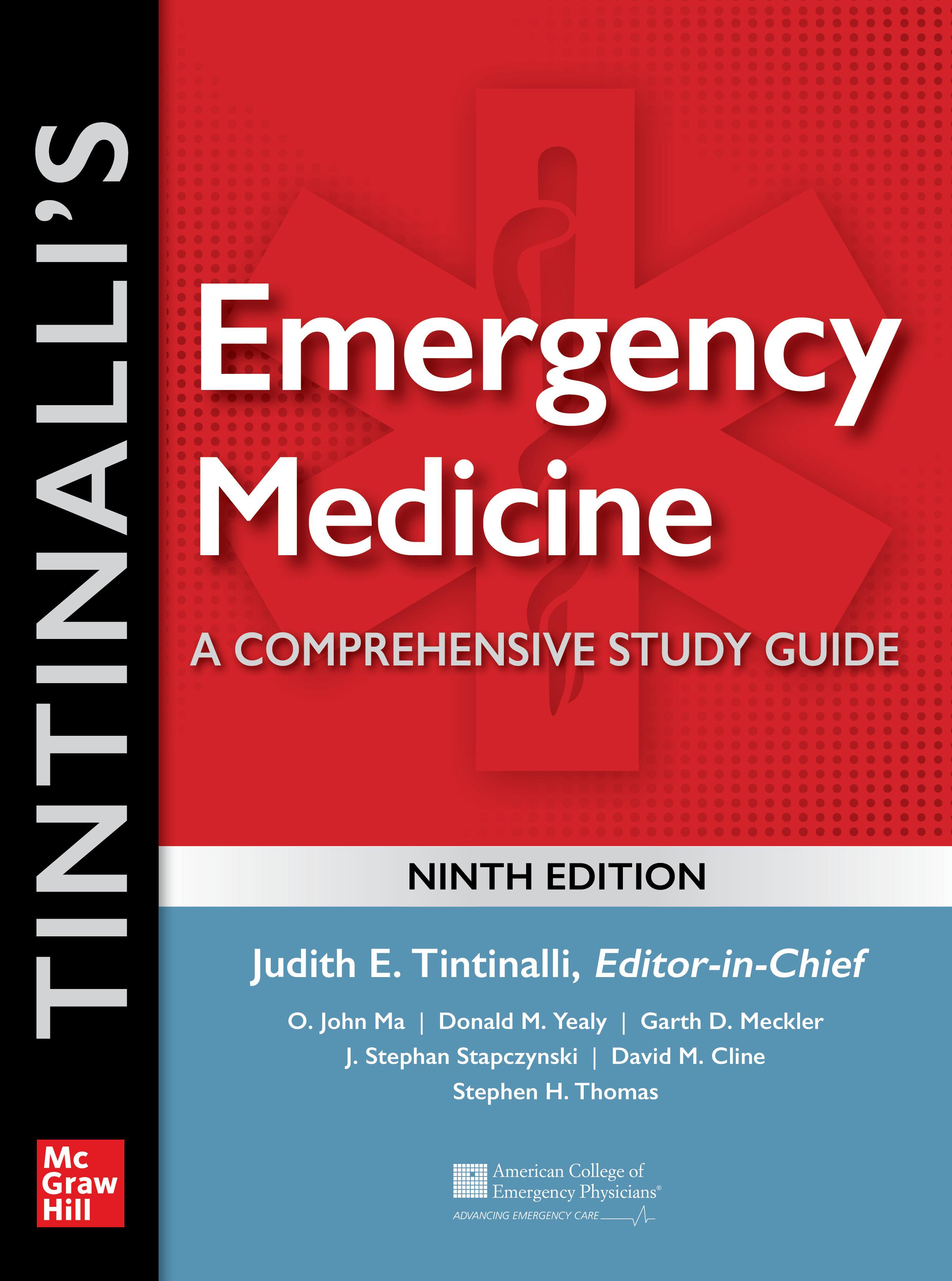 Tintinalli's emergency medicine : a comprehensive study guide